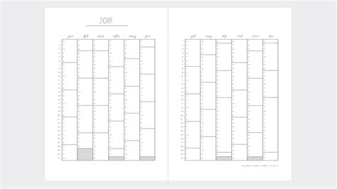 Print These Bullet Journal Diary Templates For 2018 Fro Free Bullet Journal Templates