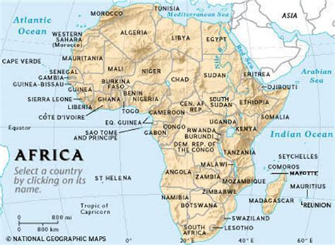 map of africa with country name africa map