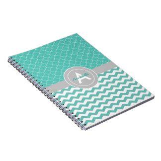 teal grey chevron pattern moroccan quatrefoil notebook chevron notebooks journals zazzle com au