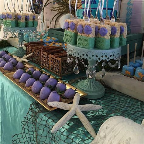 171 the mermaid inspired dessert table 187 dessert table mermaid and buffet