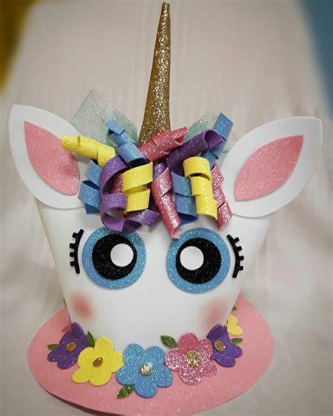 sombreros divertidos de mujer como hacerlos de goma eva sombrero loco unicorn handmade by ahura m ahura
