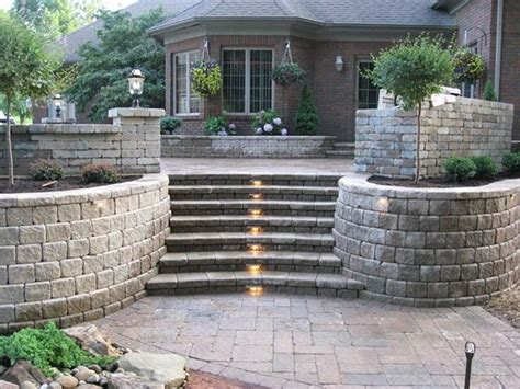 Retaining Wall Stairs Design Landscaping Blocks Ideas For Retaining Walls With Steps Jpg 800 215 600 Project Landscape