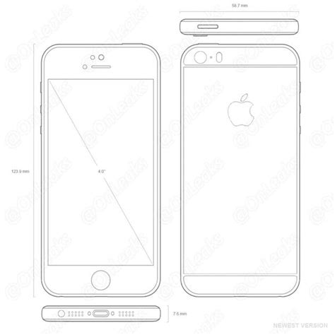 Look Iphone 5 5s 5se design drawings suggest iphone 5se will look almost