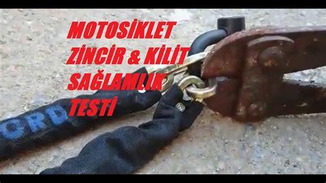 motosiklet zincir kilit testi youtube