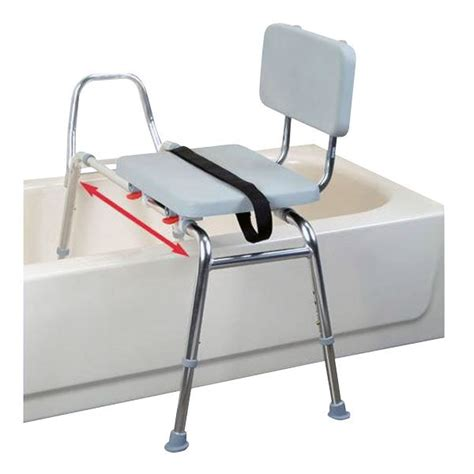 snap n save sliding transfer bench snap n save sliding transfer bench with padded seat and back