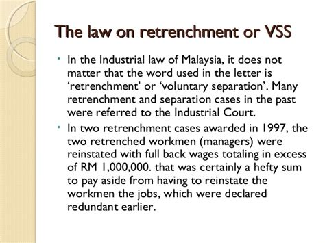 Divorce Letter Malaysia redundancy retrenchment and separation