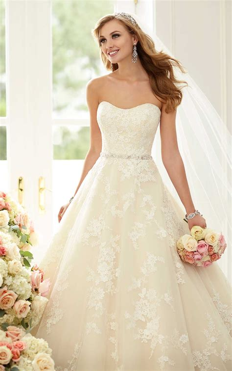 Wedding Up Dress by Wedding Dresses Lace Gown With Sparkly Belt