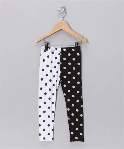 Legging Polkadot White black white polka dot toddler