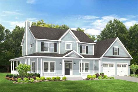 farmhouse with great wrap around porch hwbdo76664 farmhouse home plans from builderhouseplans com