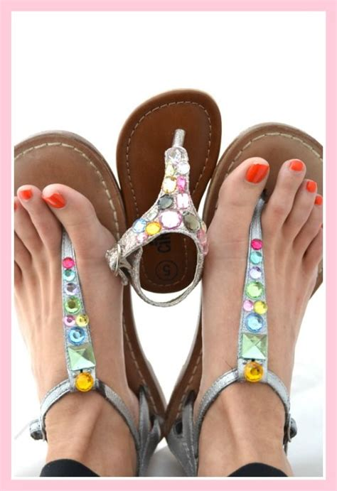 diy jeweled shoes jeweled sandal diy divers jeweled sandals
