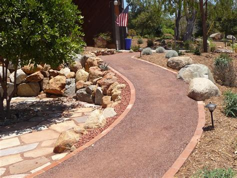 how to install a decomposed granite pathway decomposed granite brick edging and plants
