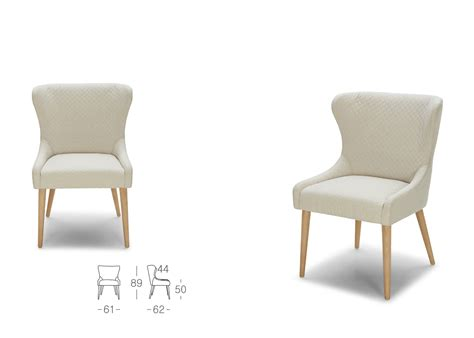 stella dining chair in white fabric not just brown
