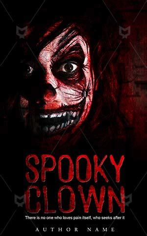 horror book cover design clown killer