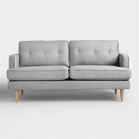 world market apel sofa dove gray woven apel sofa world market