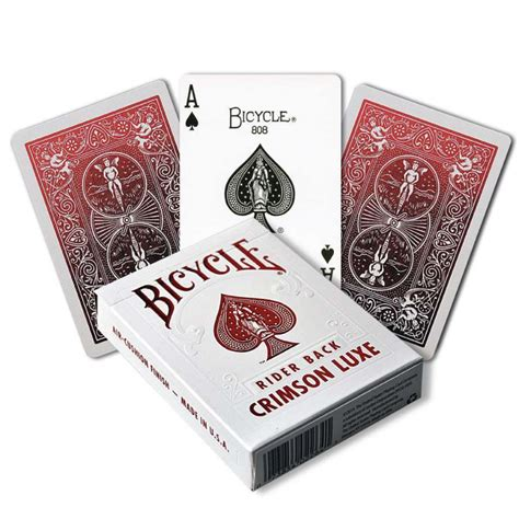 United States Card Company Bicycle Cards Box Template by Bicycle Crimson Luxe Metalluxe Bicycle Cards