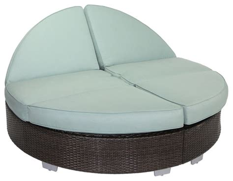 round outdoor chaise lounge cushions signature round double chaise with sunbrella gray dove