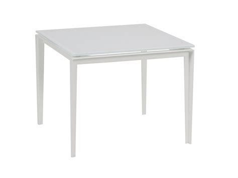 table l low square glass garden side table little l collection by