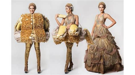 durian dress wins  costume  latin american pageant