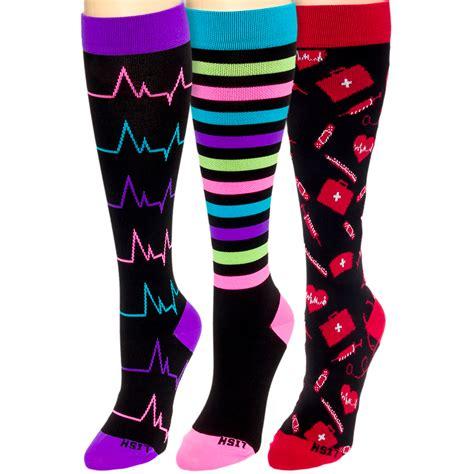 compression socks for nurses lish 15 25mmhg graduated compression socks for