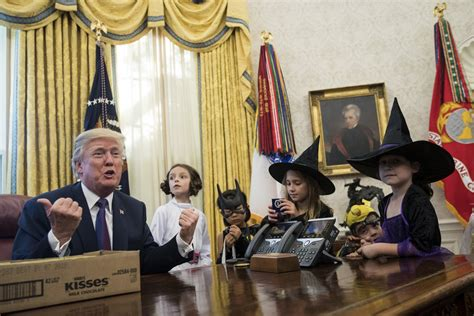 trump hosts white house reporters kids for oval office president trump hosts children of white house journalists