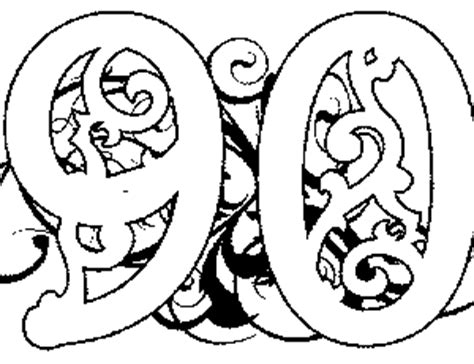 Illuminated 90 Coloring Page Illuminated 90 Coloring Page 90s Coloring Pages