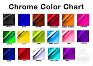 chrome color alsa chrome color chart vehicle wraps stripes graphics