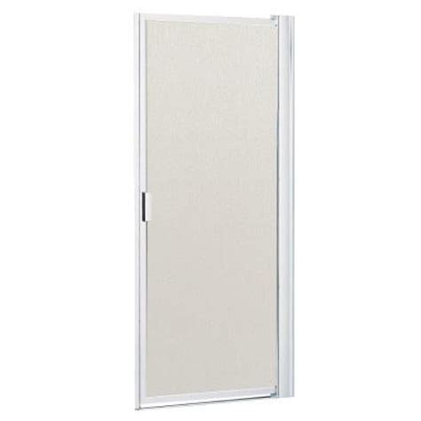 Contractors Wardrobe Shower Doors Contractors Wardrobe Model 6100 34 In X 63 1 2 In Framed Pivot Shower Door In Bright Clear