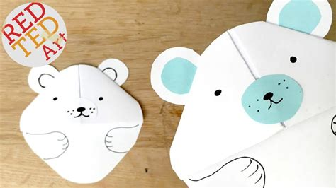 How To Make A Polar Out Of Paper - easy polar bookmark corner paper crafts