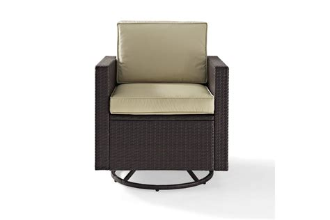 Outdoor Wicker Swivel Chair by Palm Harbor Outdoor Wicker Swivel Rocker Chair With