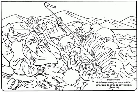 Coloring Pages Crossing The Red Sea Coloring Home Moses Crossing The Sea Coloring Page
