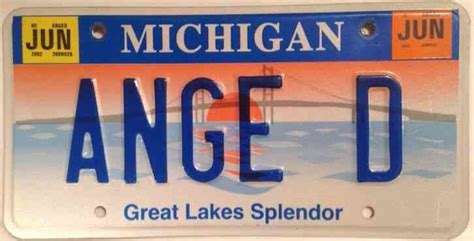 Mi Vanity Plate by Michigan License Plate With Woodland Honda License