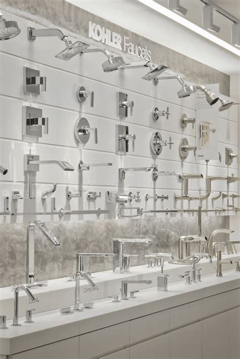 bathroom displays first kohler signature store in canada to open in vancouver
