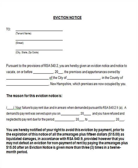 eviction notice form 16 notice forms in word sle templates