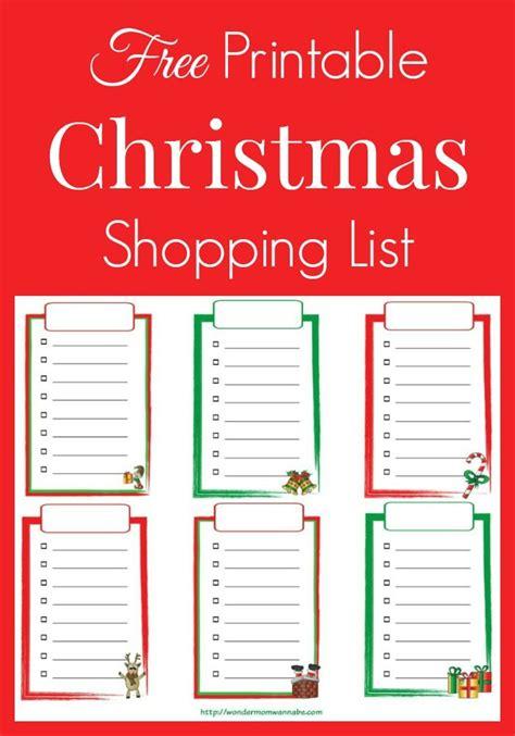 printable christmas gift shopping list best 25 christmas shopping list ideas on pinterest
