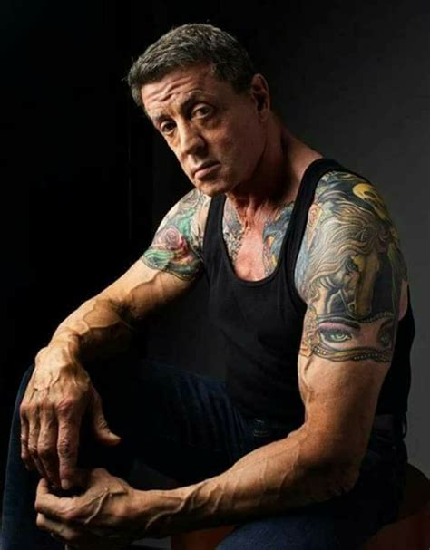 stallone tattoos sylvester stallone tattoos grudge match www pixshark