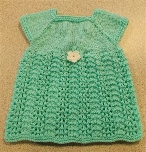 knitted dress patterns for toddlers sweet summer knit baby dress allfreeknitting