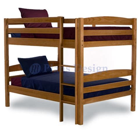 Woodworking Bunk Bed Plans Bunk Bed Woodworking Plans Patterns On Paper Design 1202 Ebay