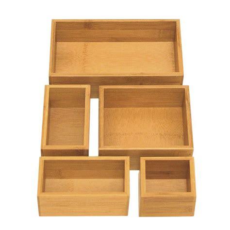seville classics bamboo drawer organizer boxes bmb17053