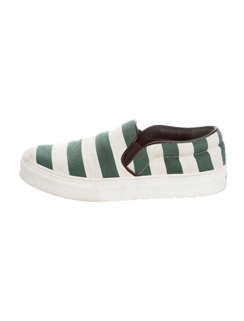 Striped Slip On Sneakers c 233 line striped slip on sneakers shoes cel53909 the