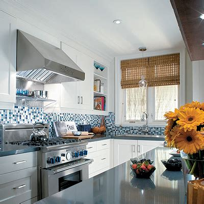 blue backsplash kitchen blue mosaic kitchen backsplash design ideas