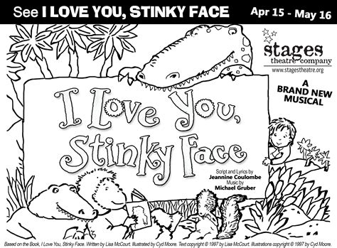I Love You Stinky Face Coloring Pages | i love you stinky face stages theatre company