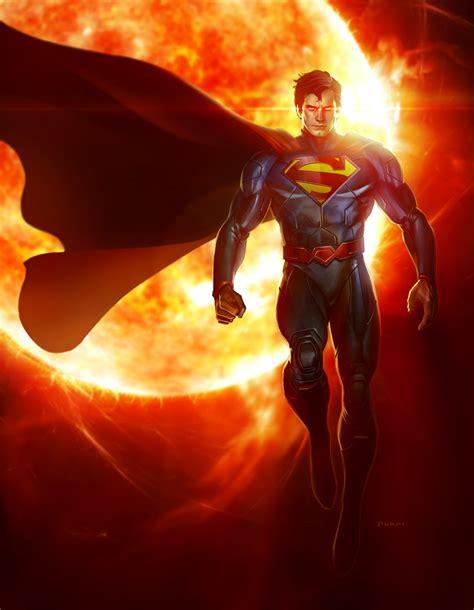painting superman superman artwork