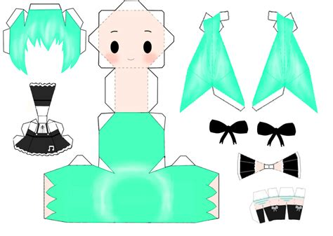 Hatsune Miku Papercraft - miku hatsune papercraft by rekaope on