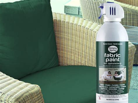 Vinyl Upholstery Dye - fabric spray paint on patio cushions diy home projects