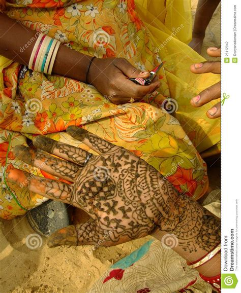 henna painting india with henna painting india stock photography image