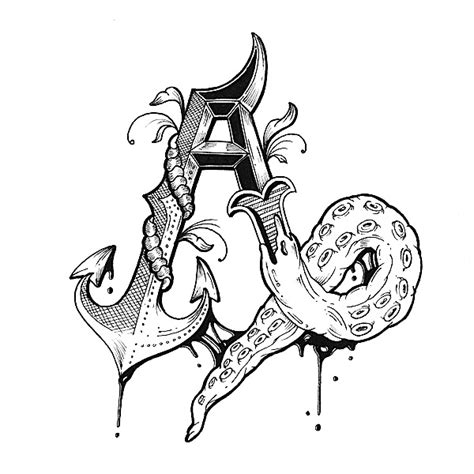 tattoo fonts yash letter alphabet