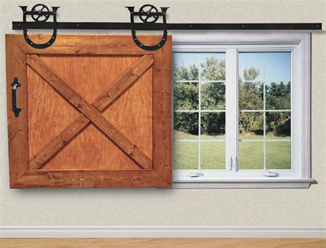 Barn Door Window Covering Sliding Window Shade Rustic Window Treatments Other Metro By Post Frame Accessories
