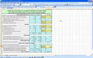 Roi Analysis Template Excel by Roi Restaurant Calculator Roi Restaurant Template