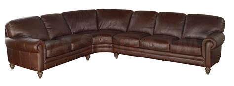 Traditional Leather Sectional Sofa by Natuzzi Editions Traditional Leather Sectional Sofa A855