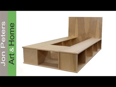 how to make a platform bed with storage build a platform bed with storage part 1 youtube